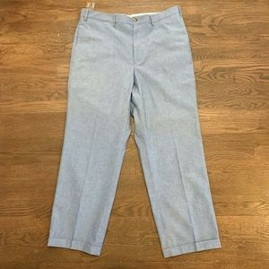 Orvis Mens Chambray Casual Suit Pants Size 38